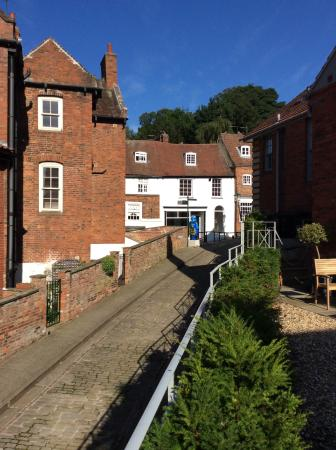 Beautiful historic views from The Rest, Lincoln, which is centrally located for the old sights.