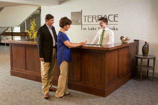 The Terrace at Lake Junaluska: The Terrace Check-in Desk