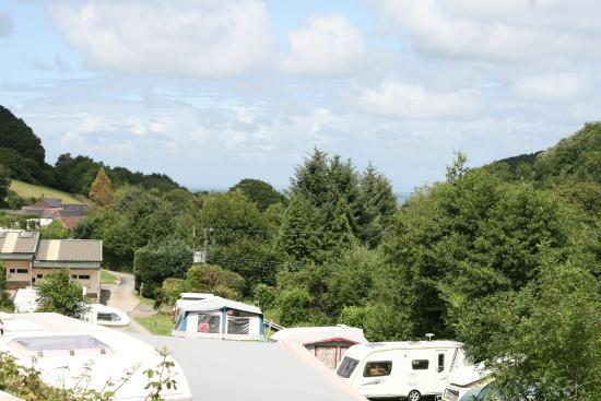 Newberry Valley Caravan & Camping Park: View from our pitch