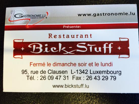 Bick Stuff: business card