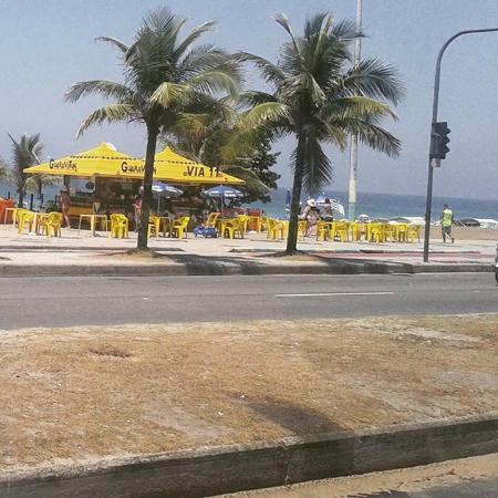 Merlin Copacabana Hotel: Úm bom quiósque de praia.