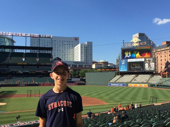 Oriole Park At Camden Yards My Son Overlooking