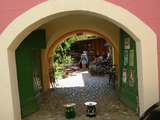 Muzikafe Bed & Breakfast: toegangspoort naar de tuin