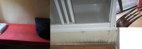 Vallee de Rabais: Le lit la douche la vaisselle