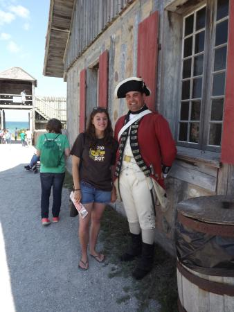 Mackinaw City, MI: Interpreters take initiative in interacting with the guests