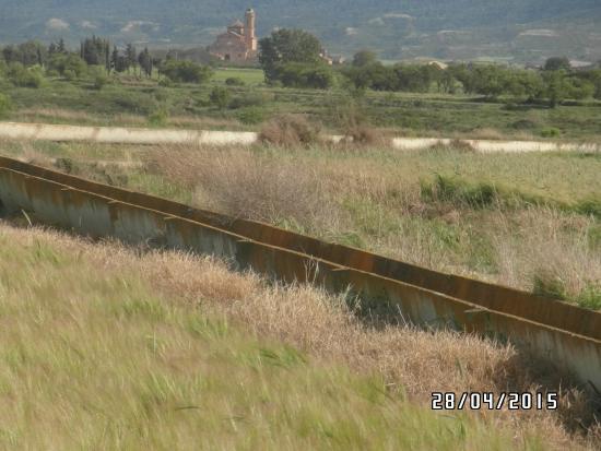 vista Cartuja de nuestra Señora de Las Fuentes desde los barrancos en lanaja