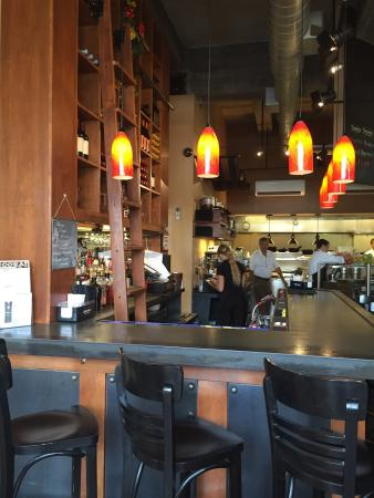 Ancora: The bar and open kitchen