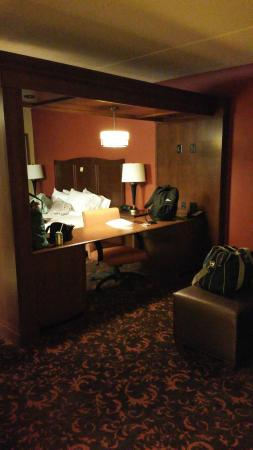 Hampton Inn Elmira/Horseheads: the room from the door (accessible room)