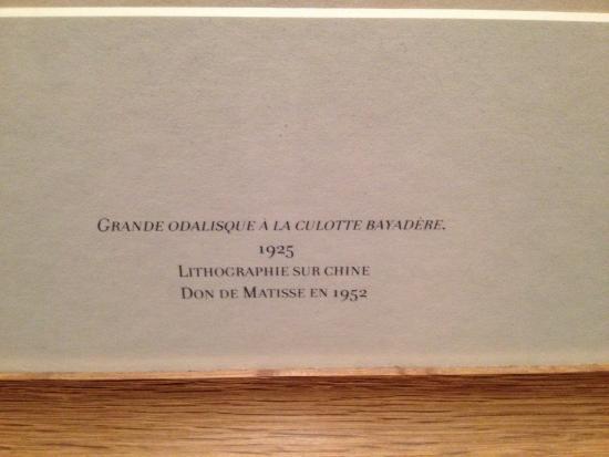 Musée Matisse : Quelques œuvres !!!!