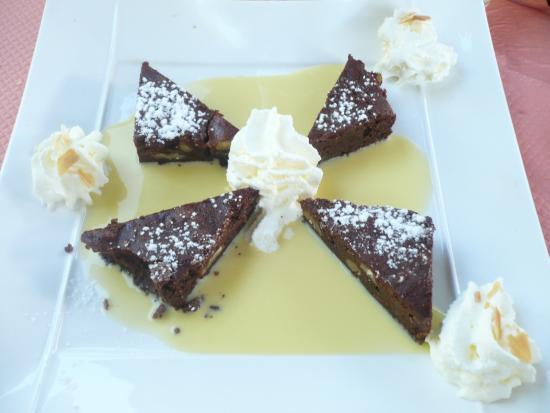 Les Terrasses du Lac : brownie au chocolat...