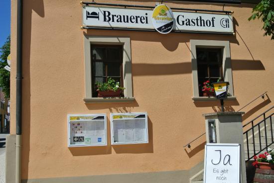 Werneck, Tyskland: Seitlicher Eingang