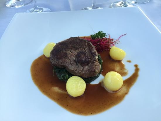 Ristorante Al Lago - Romantik Hotel Castello-Seeschloss: Essen Gourmet Menu