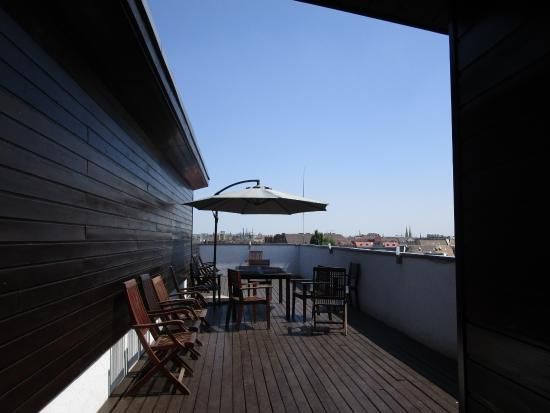 Downtown Apartments Budapest: Outdoor area Dining area