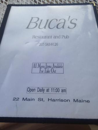 Harrison, Maine: Buca's