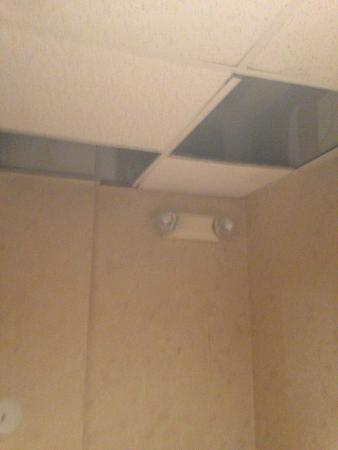 Comfort Suites: Guests' Back Enterance, Water Damage is My Guess