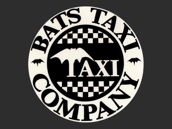 Bats Taxi Company Logo On Every