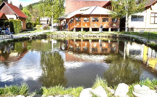Hanul Pescaresc: Étterem terasz része a tó fölött...