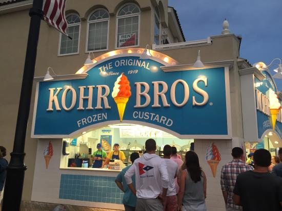 Kohr Brothers Frozen Custard : Best treat on the boardwalk!