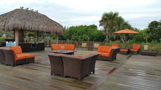 Hilton Cocoa Beach Oceanfront Deck Area