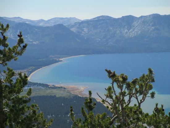 South Lake Tahoe, Californië: lake tahoe from  platform