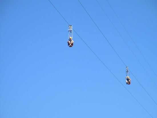 South Lake Tahoe, Californië: zip line at heavenly