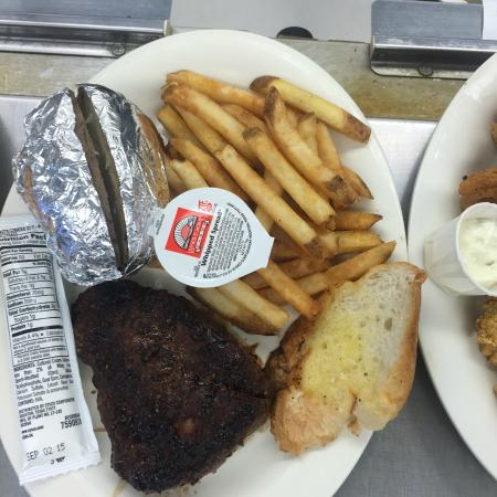 Scott's Catfish & Seafood: 8oz Sirloin Steak with Baked Potato and Fries!!!