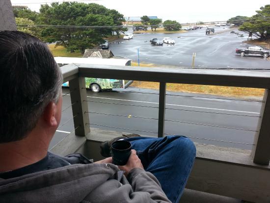 The Wayside Inn My Husband Enjoying His Morning Coffee On Our Balcony Beach Cannon
