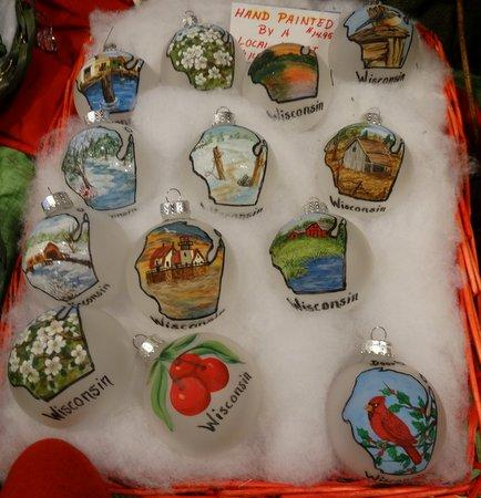 Mistletoe Holiday House Handpainted Door County ornaments created by a local artist & Handpainted Door County ornaments created by a local artist ...