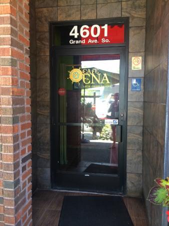 Cafe Ena door