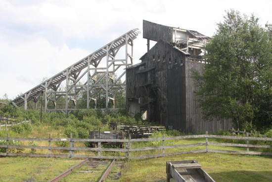 Eckley Miners' Village : The rock crusher and sorting conveyors.
