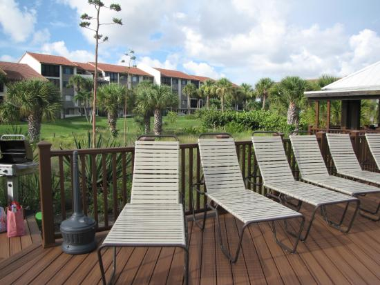 Siesta Dunes Beach Condominiums: Deck at Siesta Dunes