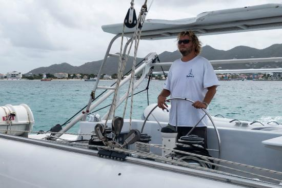 Simpson Bay, St-Martin/St Maarten : Our Captain