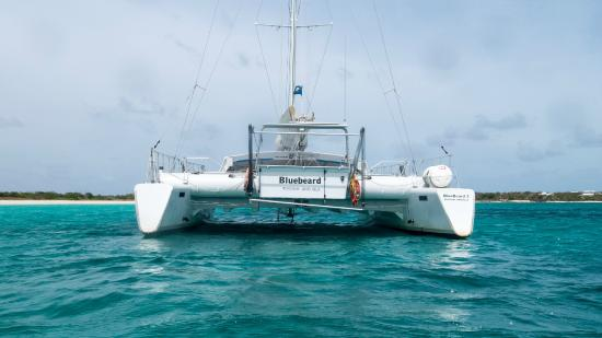 Simpson Bay, St. Maarten/St. Martin: BlueBeard anchored in Anguilla