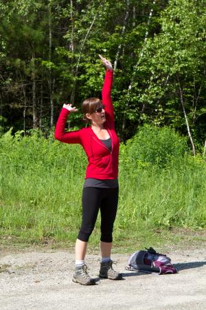 Mendon, VT: stretch before hike