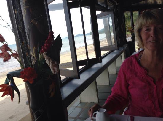 Lipa Lodge Beach Resort: View from inside the restaurant