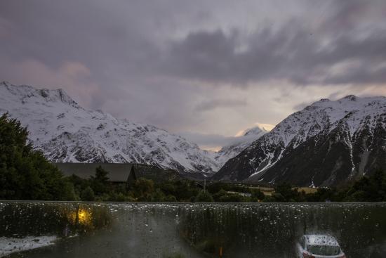 Aoraki Mount Cook Alpine Lodge: from the lodge lounge patio