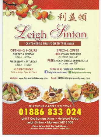 ‪Leigh Sinton Chinese And Thai Takeaway‬