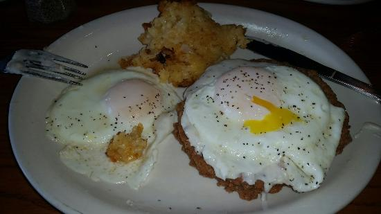 Cracker Barrel: Count fried steak and eggs