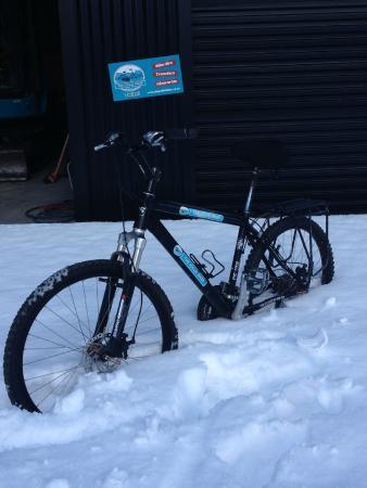 "Twizel, นิวซีแลนด์: Our new ""natural"" bikestands !!"