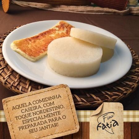Fina Fatia: Inhame com queijo coalho assado