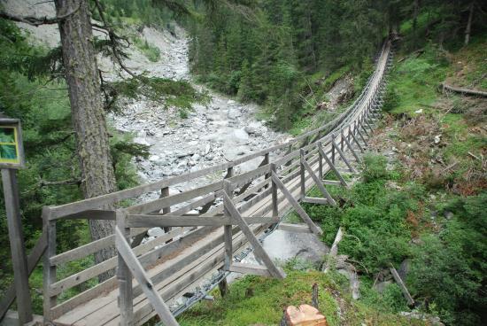 Sent, Swiss: Val Sinestra Hängebrücke