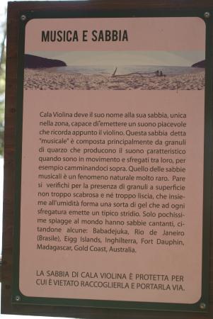 Scarlino, İtalya: La sabbia musicale