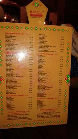 menu card picture of haveli jalandhar tripadvisor rh tripadvisor com