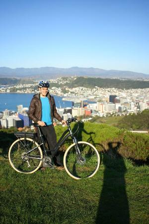 Switched on Bikes: View over Wellington