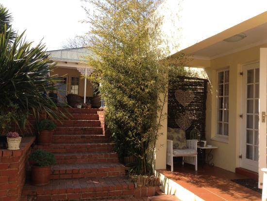 Arum Place Guest House: Uitzicht vanaf terras Arum Place