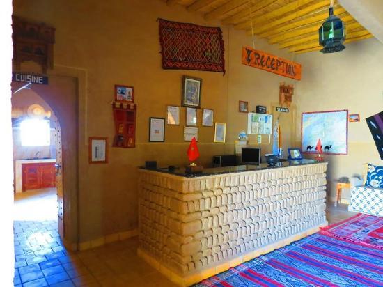 Riad Tadarte Restaurant : réception riad tadarte merzouga