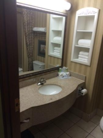 Holiday Inn Express Suites Lake Worth NW Loop 820: Nice bathroom counters, lots of towels