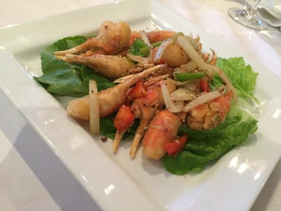 Restaurant Charme Cochinchine: Crab Claws Salad