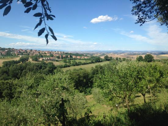 Albergo di Murlo: View from the surrounding countryside!