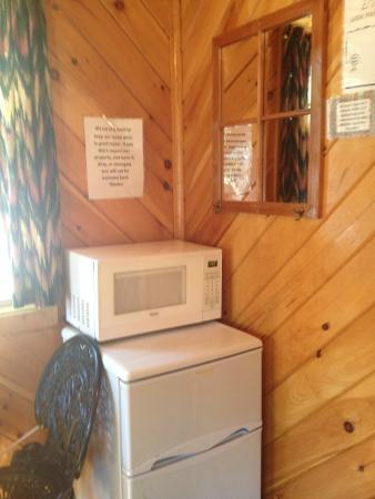 Big Oaks Family Campground: microwave and fridge